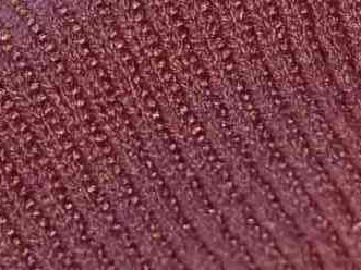 A retro type fabric, a natural resilient knitted rib, fine 1x1 Rib construction, knitted on a fine gauge machine. Open width. Great for sportswear, and trimmings also. 