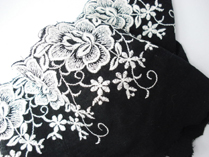 Very elaborate 8cms all over Rose embroider repeat.